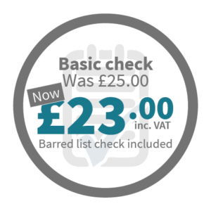 Basic Check - was £25.00, now £23.00 inc VAT