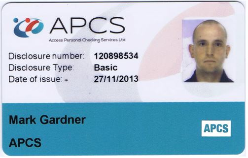 Front of an APCS ID Card