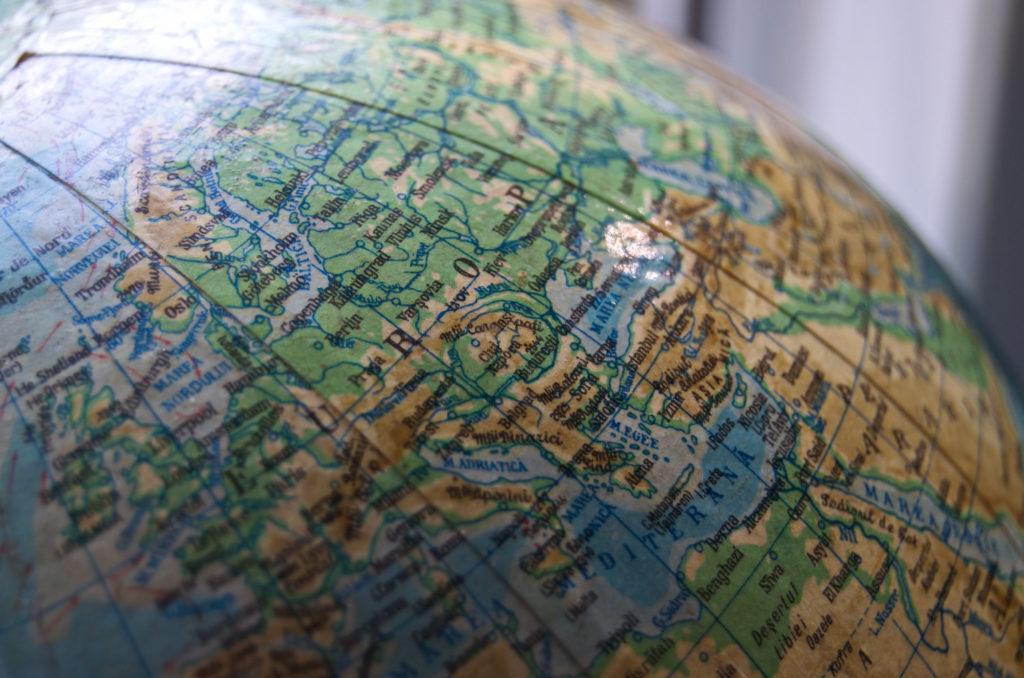 Photo of a globe
