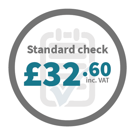 Standard check - £32.60 inc VAT
